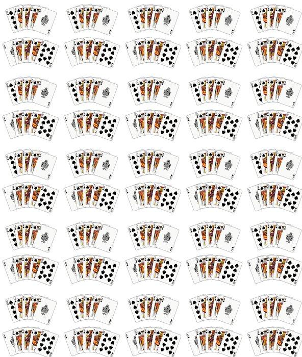 Vinylová Tapeta Double royal flush rýč - Nálepka na stěny