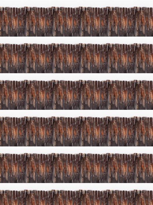 Vinylová Tapeta Rampouchy na dřevěné boudě - Roční období