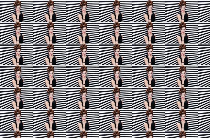 Vinylová Tapeta Krásná mladá žena, glam rock ve stylu módy a doplňte -