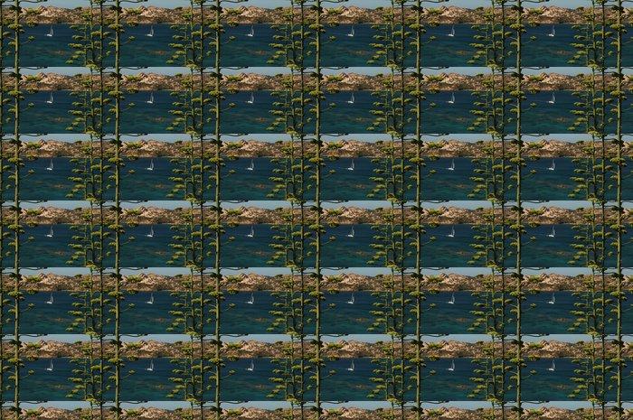 Vinylová Tapeta Laggiù navigano a vela nell'immensità del blu - Outdoorové sporty