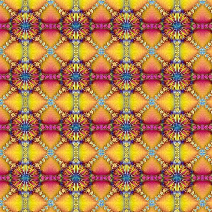 Vinylová Tapeta Květinový vzor - Abstraktní