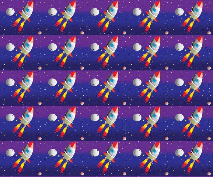 Vinylová Tapeta Raketa na Mars - Meziplanetární prostor