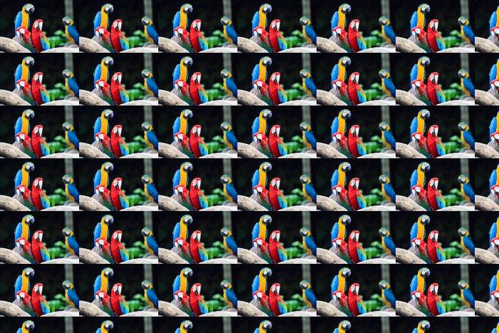 Vinylová Tapeta Blue-a-červený papoušek - Témata
