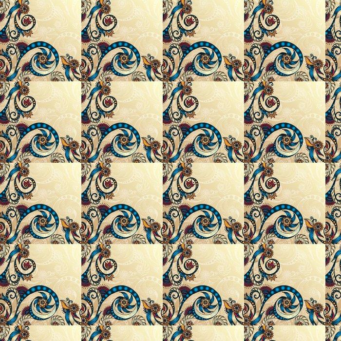 Vinylová Tapeta Vector abstraktní květinové dekorativní pozadí. - Květiny