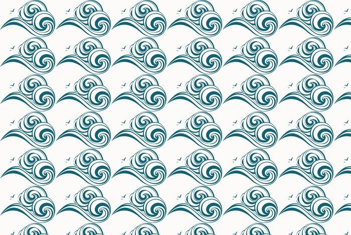 Vinylová Tapeta Vlny dekorativní - Pozadí