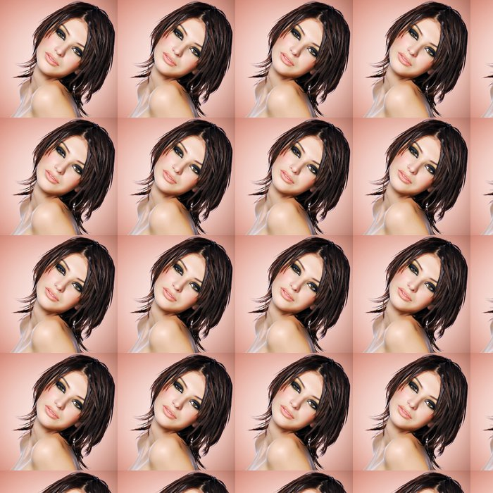 Vinylová Tapeta Portrét krásné ženy s kreativní účes. -