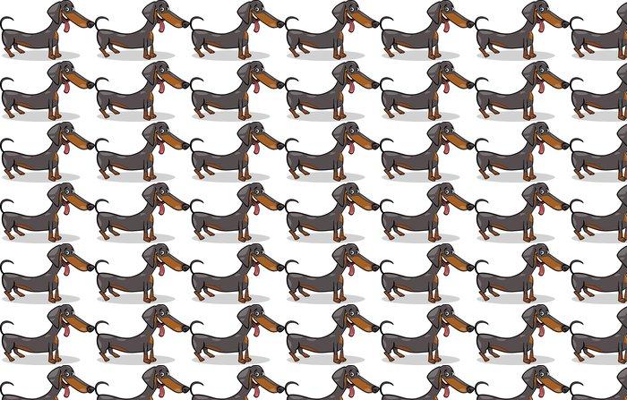Vinylová Tapeta Jezevčík pes kreslené ilustrace - Nálepka na stěny