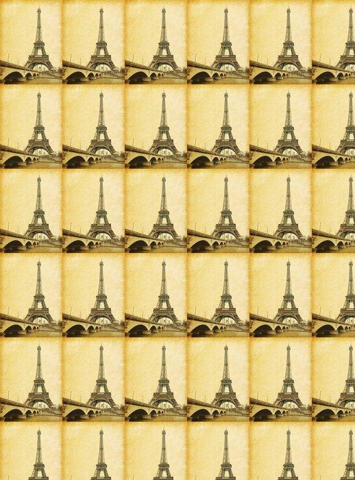 Vinylová Tapeta Eiffelova věž. Fotografie v retro stylu. Papír textury. - Témata