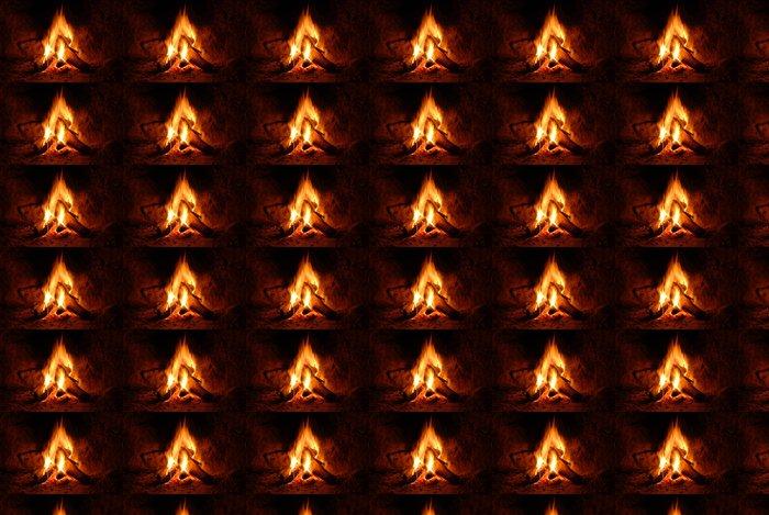 Vinylová Tapeta Feuer, kaminfeuer, Flammen, - Struktury