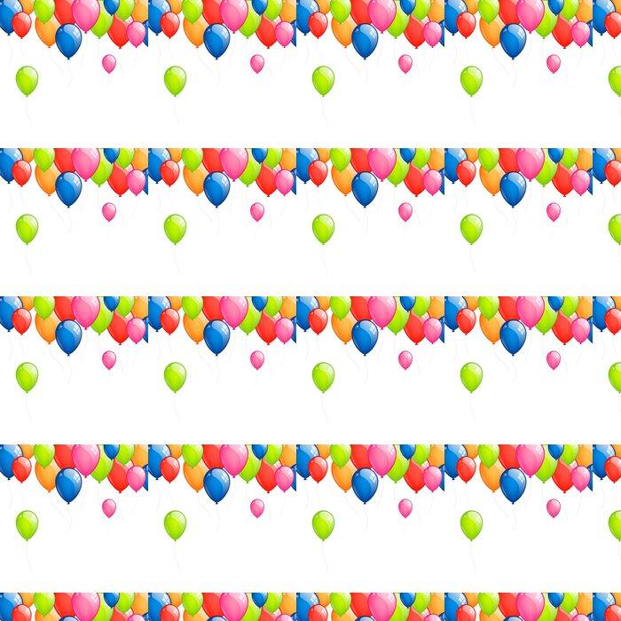 Vinylová Tapeta Vektorové ilustrace od barevné balónky Létající - Slavnosti