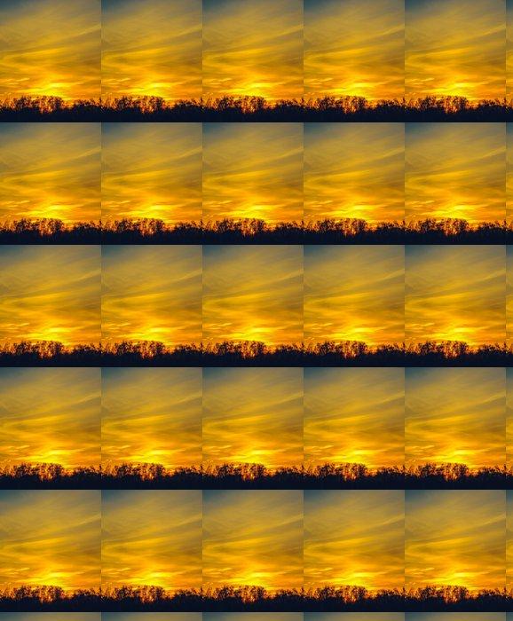 Vinylová Tapeta Západ slunce v oblacích - Nebe