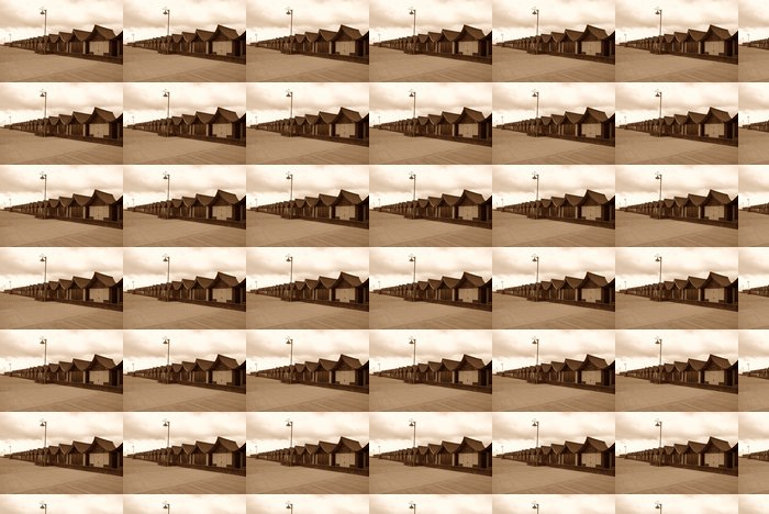 Vinylová Tapeta Britská Beach Huts - Prázdniny