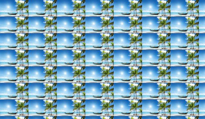 Vinylová Tapeta Dřevo člun na pláži - Prázdniny