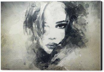Impressão em Alumínio (Dibond) abstract woman portrait