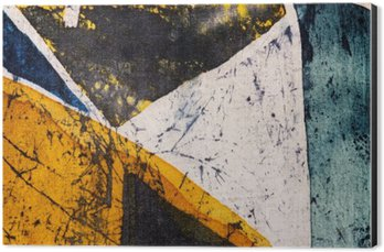 Impressão em Alumínio (Dibond) Geometria, batik quente, textura do fundo, feito à mão em seda, do surrealismo da arte abstracta
