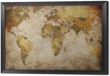 Verdens kort Indrammet Fotolærred