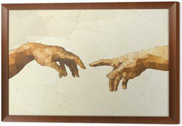 Ingelijst Canvas Abstract Gods hand vector illustratie