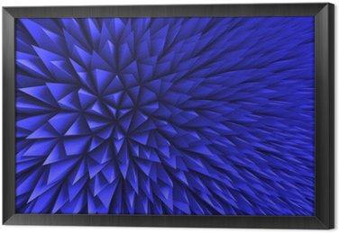 Ingelijst Canvas Abstract Poligon Chaotische Blauwe Achtergrond