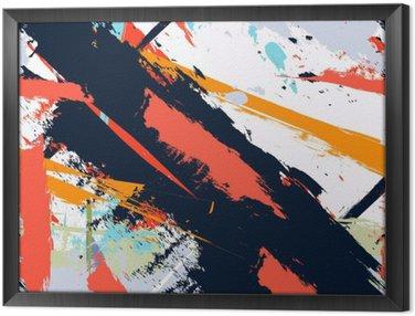 Ingelijst Canvas Abstracte kunst grunge verontruste naadloos patroon