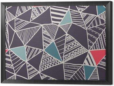 Ingelijst Canvas Abstracte naadloze doodle patroon