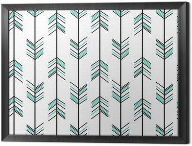 Ingelijst Canvas Arrow naadloze vector patroon achtergrond hipster illustratie