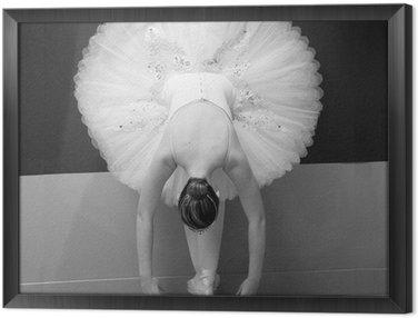 Ingelijst Canvas Balletdanser