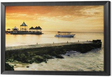 Ingelijst Canvas Caribbean sunset