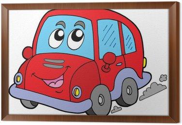 Ingelijst Canvas Cartoon auto
