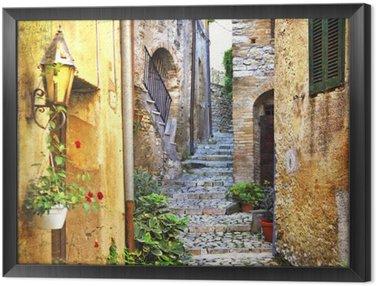 Ingelijst Canvas Charmante oude straatjes van de mediterrane
