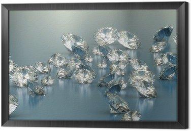 Ingelijst Canvas Diamonds