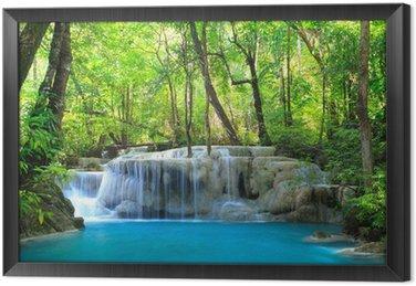 Ingelijst Canvas Erawan Waterfall, Kanchanaburi, Thailand