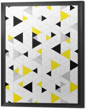 Ingelijst Canvas Geometrische patroon achtergrond