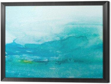 Ingelijst Canvas Kleur lijnen aquarel schilderij kunst