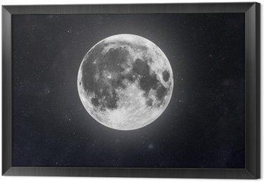 Ingelijst Canvas Moon