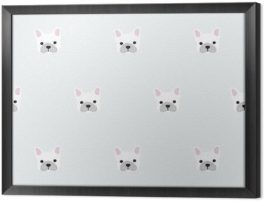 Ingelijst Canvas Naadloze franse bulldog patroon