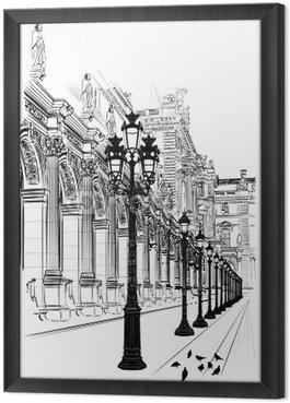Ingelijst Canvas Parijs: Klassieke architectuur