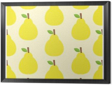 Ingelijst Canvas Patroon vector achtergrond Cute fruit kleur Kijk heerlijk Rond-