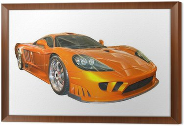 Ingelijst Canvas Saleen sportwagen