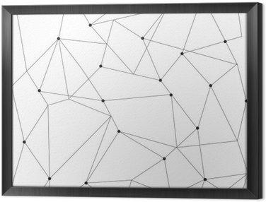 Ingelijst Canvas Scandinavisch geometrische modern naadloos patroon