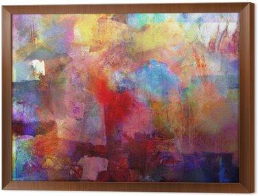 Ingelijst Canvas Schilderij textures