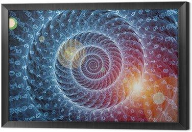Ingelijst Canvas Spiraal achtergrond