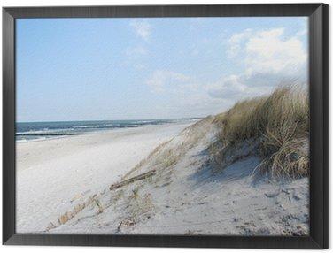 Ingelijst Canvas Strand duinen