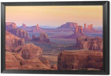 Ingelijst Canvas Sunrise in Hunts Mesa in Monument Valley, Arizona, Verenigde Staten