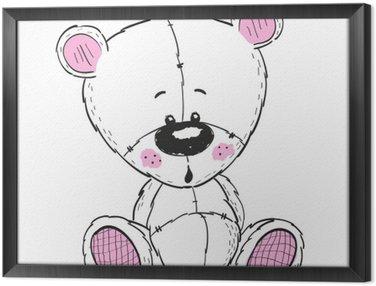 Ingelijst Canvas Tekening Teddy