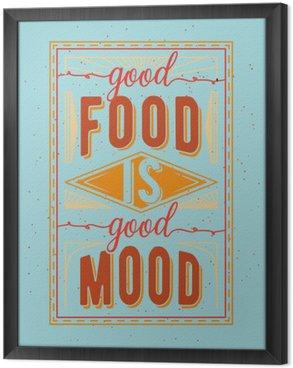 Ingelijst Canvas Vintage voedsel gerelateerde typografische citaat