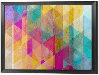 Ingelijst Canvas Watercolor geometrische achtergrond met driehoeken