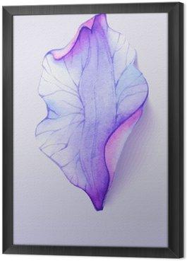 Ingelijst Canvas Waterverf het element bloemblaadje