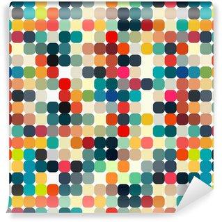Abstrakti geometrinen retrokuvio saumattomasti suunnitteluun Itsestäänkiinnittyvä Tapetti