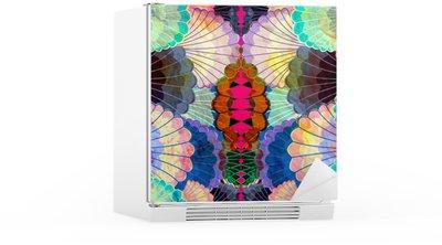 Vesiväri monivärinen abstrakti elementtejä Jääkaappitarra