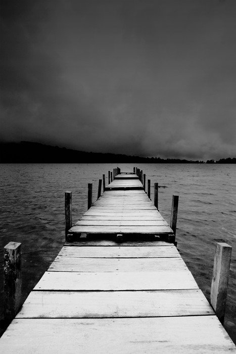 Plakat HD jetty view in black & white - iStaging